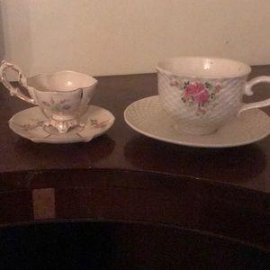 2 Teacup/saucer sets